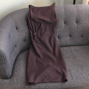 Plum office or cocktail dress